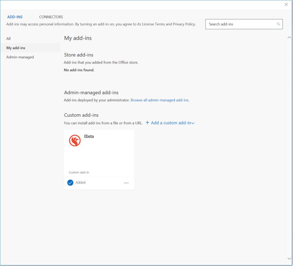 Installing Ebsta for Outlook – Ebsta Knowledge Base