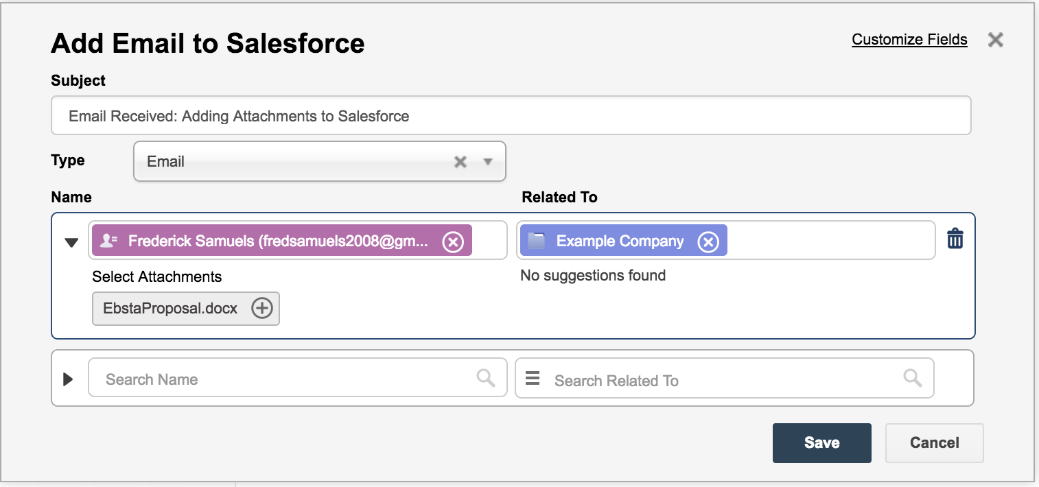 How to add email attachments to Salesforce from Gmail